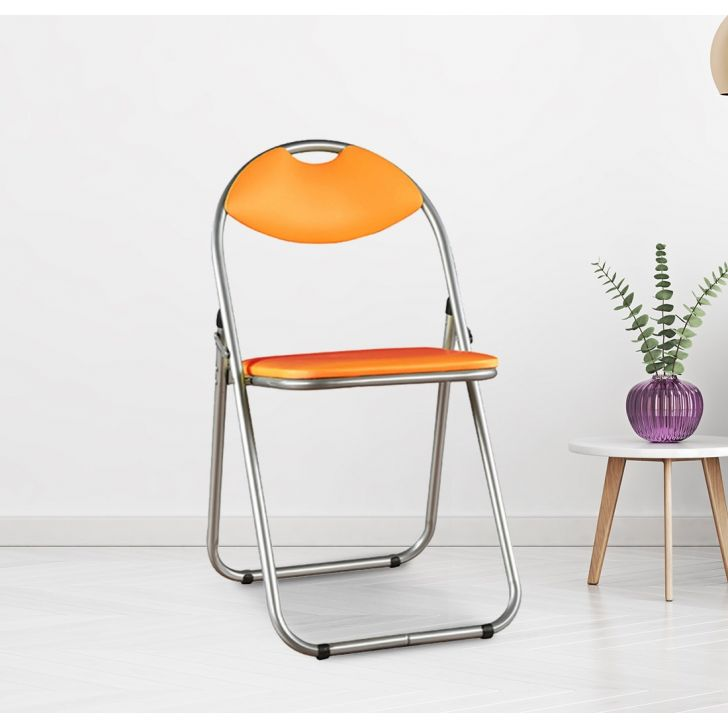 Niko Metal Outdoor Chair in Orange Color by HomeTown