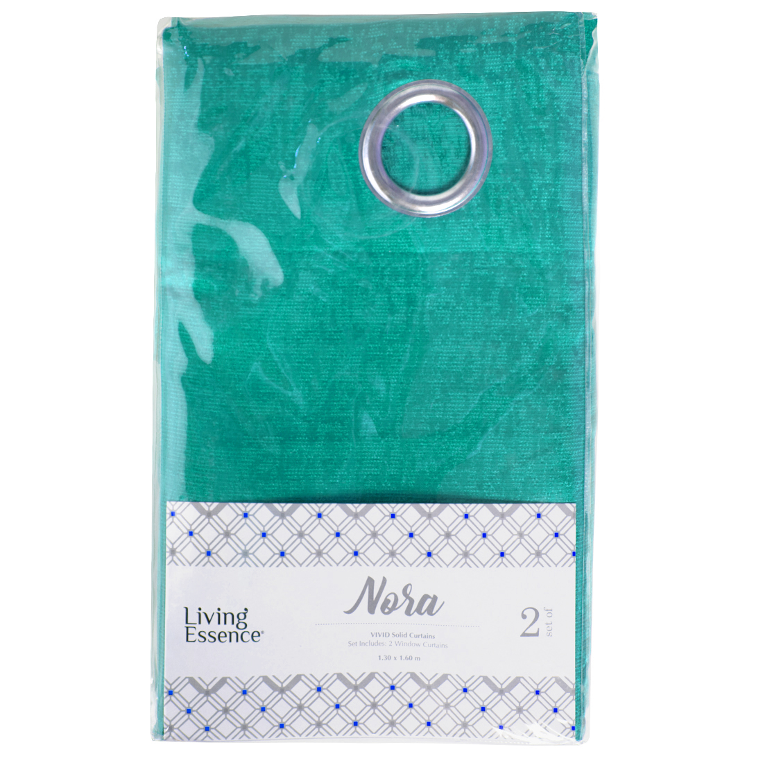 Nora Solid Polyester Window Curtains in Turquoise Colour by Living Essence