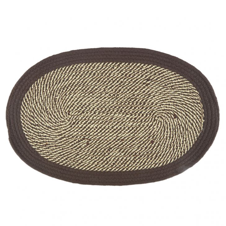 Braided Polypropylene Door Mats in Teal Colour by Living Essence