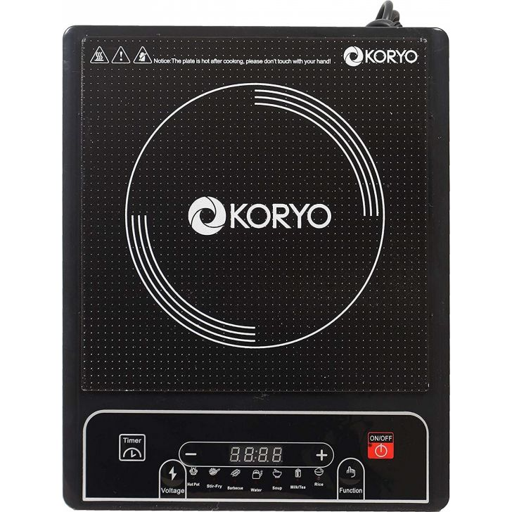 Koryo Induction (KIC 157) Cooktop, 50HZ Creamic Induction Cooktop in Black Colour by KORYO