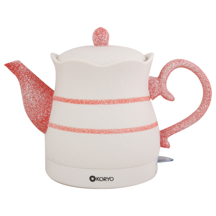 Ceramic Electric Kettle (1200W) - 1.2 Litres - Multicolour by Koryo
