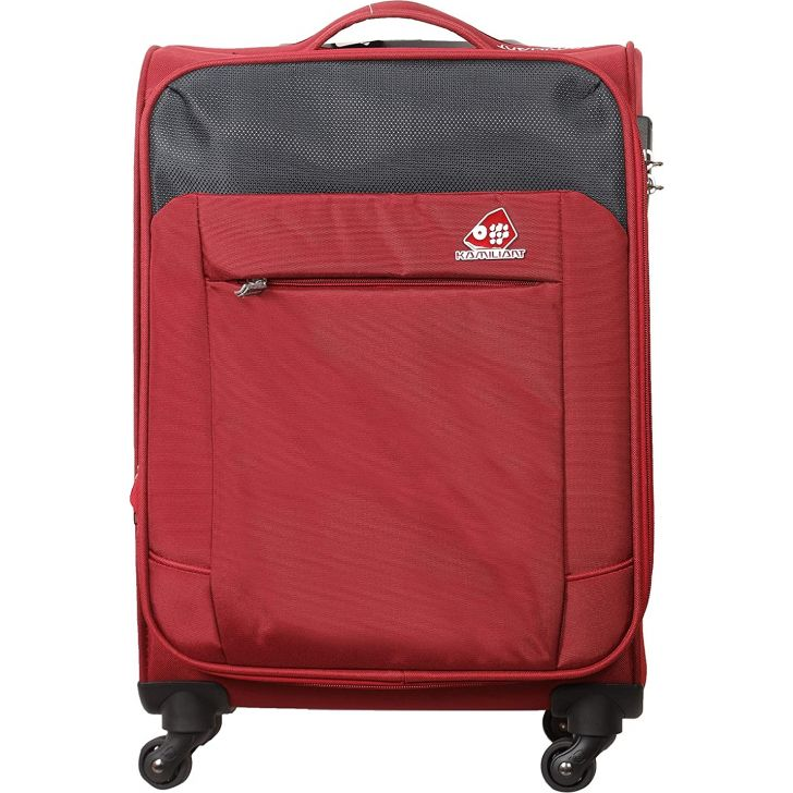 Motivo Clx 68.5 cm Polyester Soft Trolley in Red Colour by Kamiliant