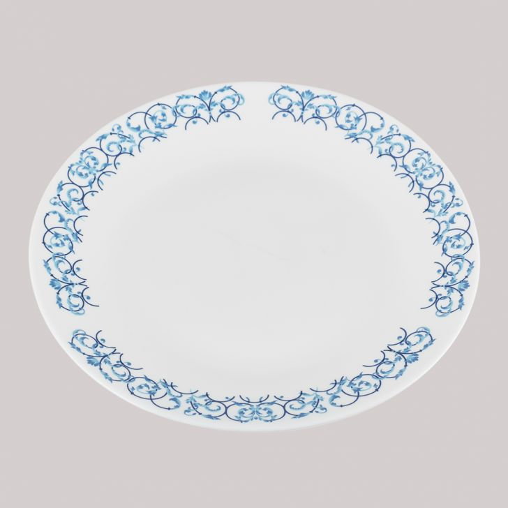 Diva Ivory Quarter Plate Arch Glass Plates in White Colour by Diva