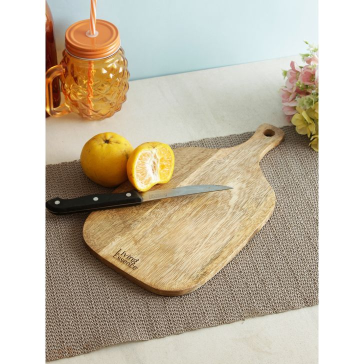 Paddle Wooden Chopping Board in Brown Colour