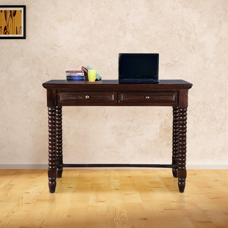 Delphi Solid Wood Study Table in Nut Brown Colour by HomeTown
