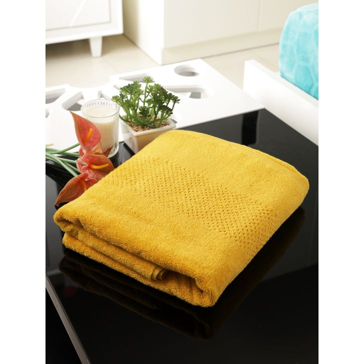 Swift Dry Cotton Face Towel 30X30 Cm 450 Gsm in Sunflower Colour