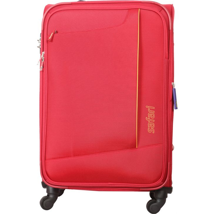 Safari Rush Secure 69 cm Soft Trolley (Red)