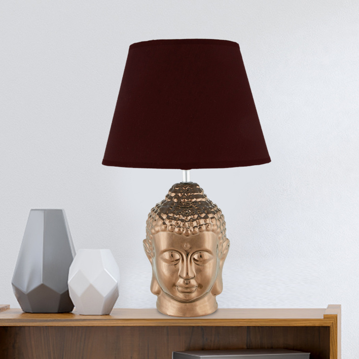 Nirvana Buddha Lamps Small Ceramic Table & Floor Lamps in Coffee Colour by Living Essence