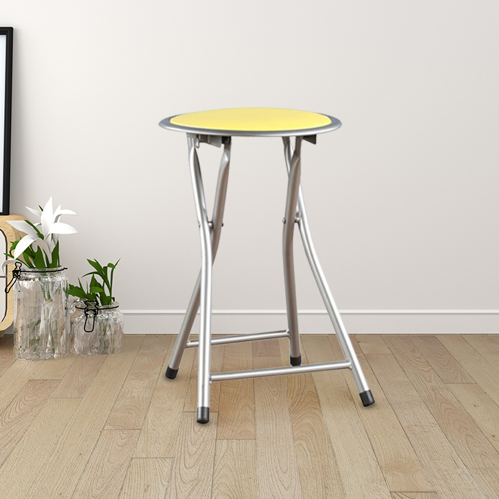 Dudo Metal Bar Chair and Stool in Citron Colour by HomeTown