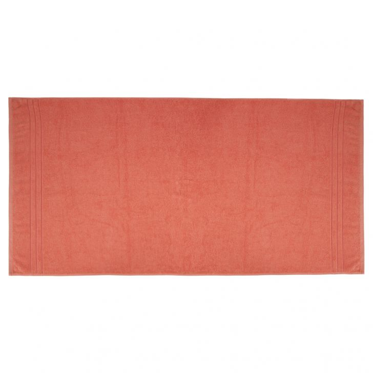 Bath Towel Nora Peach Cotton Bath Towels in Peach Colour by Living Essence