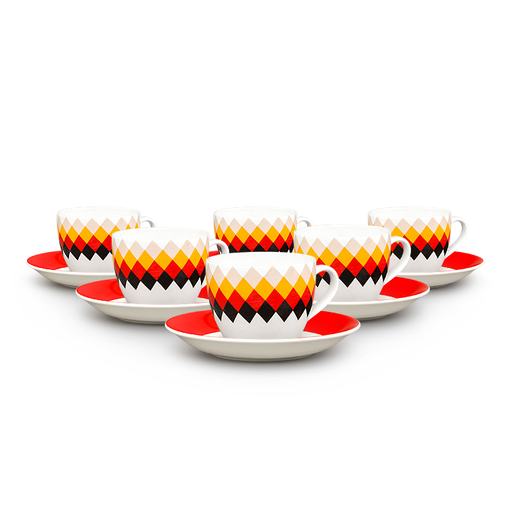 Living Essence Cups & Saucers in Multicolor Colour by Living Essence
