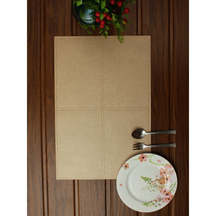 Placemat Pvc Table Mats in Beige Colour by Living Essence