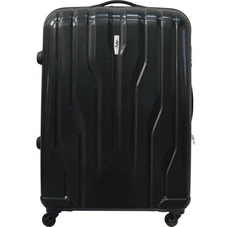 Luggage & Trolley Bags Polycarbonate Hard Trolley in Black Colour by Skybags