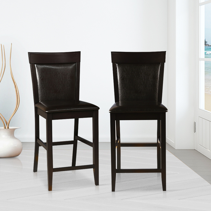 Caren Solid Wood Dining Chair Set of Two in Capuccino Colour by HomeTown