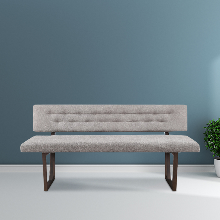 Kristal Solid Wood Dining Bench in Grey Colour by HomeTown