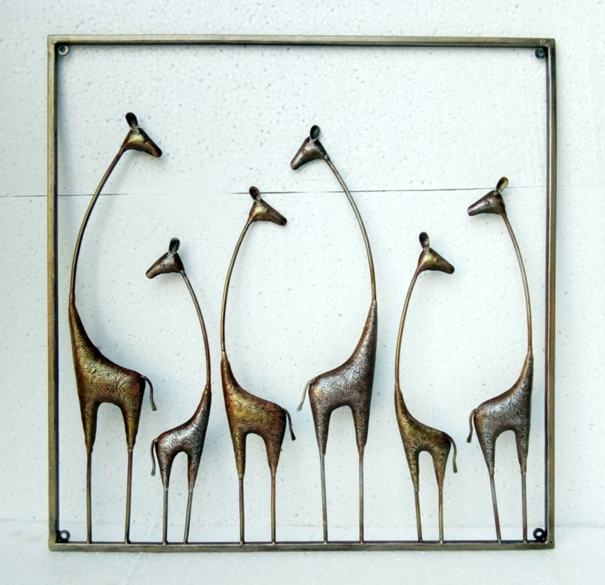 W-GIRAFFIDAE WALL PANEL Large Wall Accents in MultiColor Colour by Royce