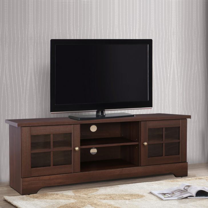 Holly Engineered Wood TV Unit in Walnut Colour by HomeTown