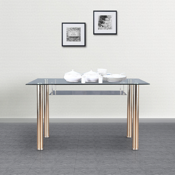 Vento Metal Four Seater Dining Table in Black Colour by HomeTown