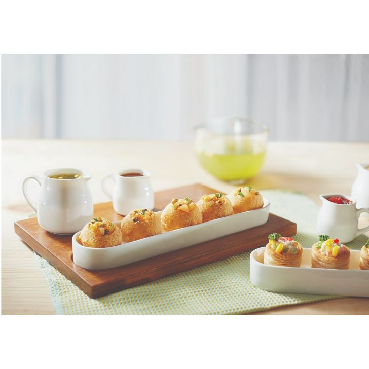 Songbird Appetizer Set Serving Sets in Natural Wood And White Colour by Songbird