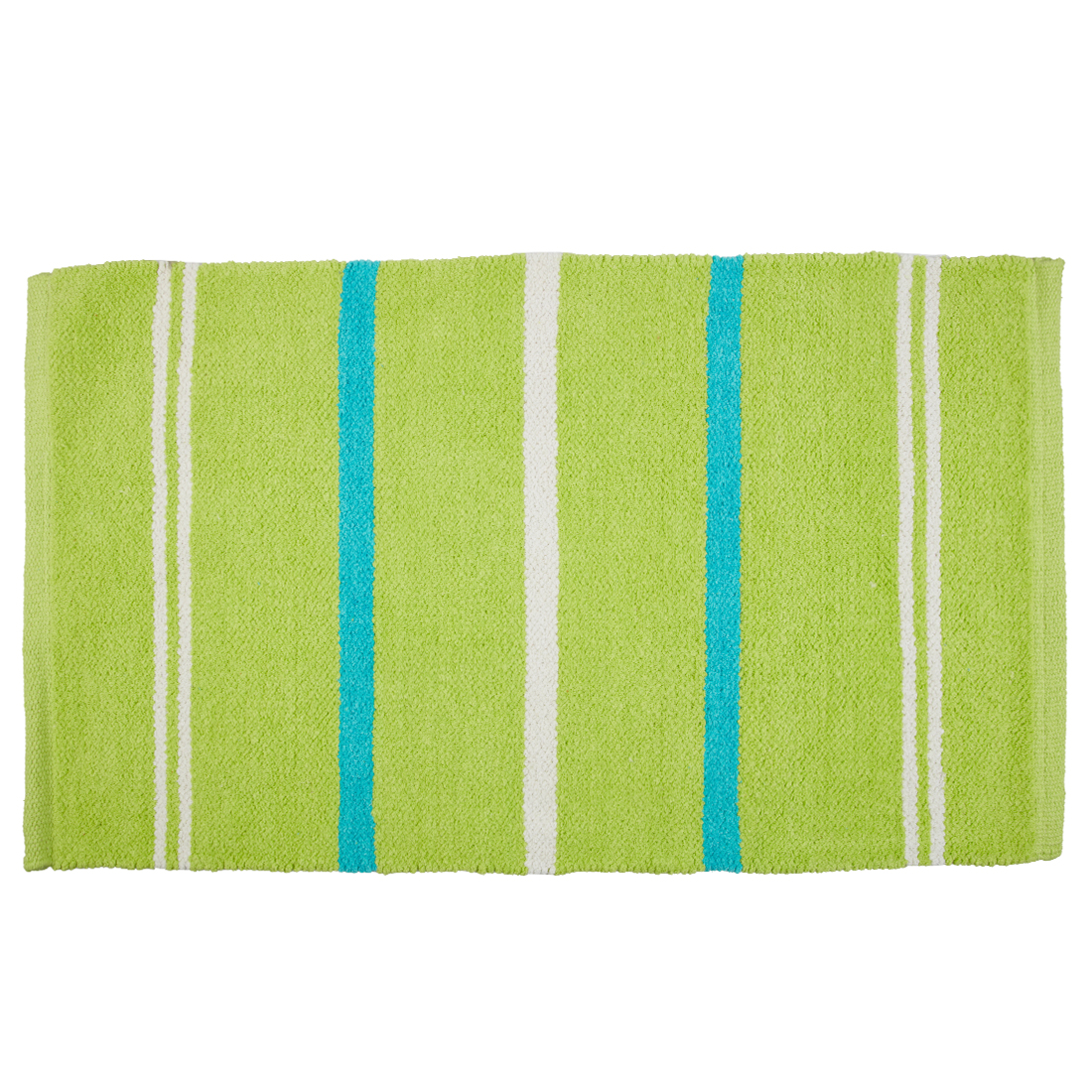 Emilia Dhurrie Green Chenille Bath Mats in Green Colour by Living Essence