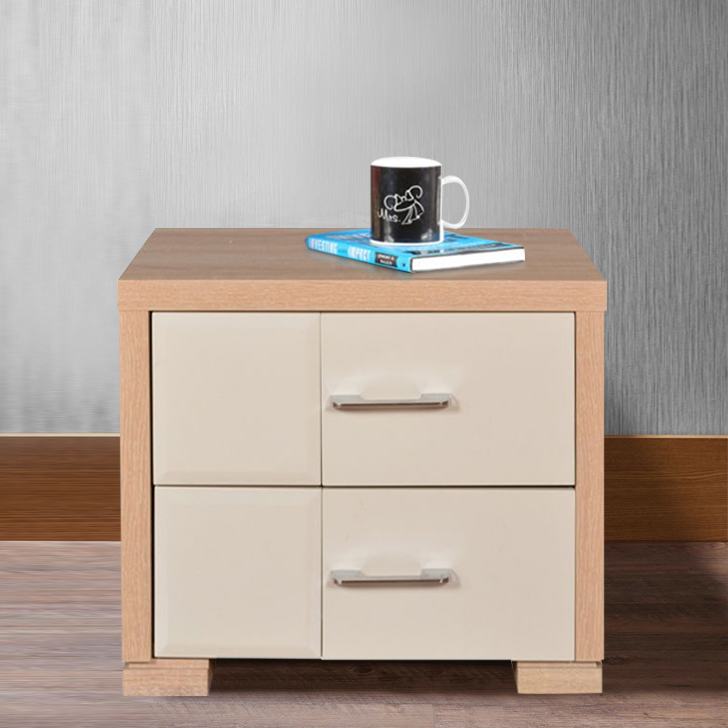 Geo Engineered Wood Bedside Table in Wenge Colour by HomeTown