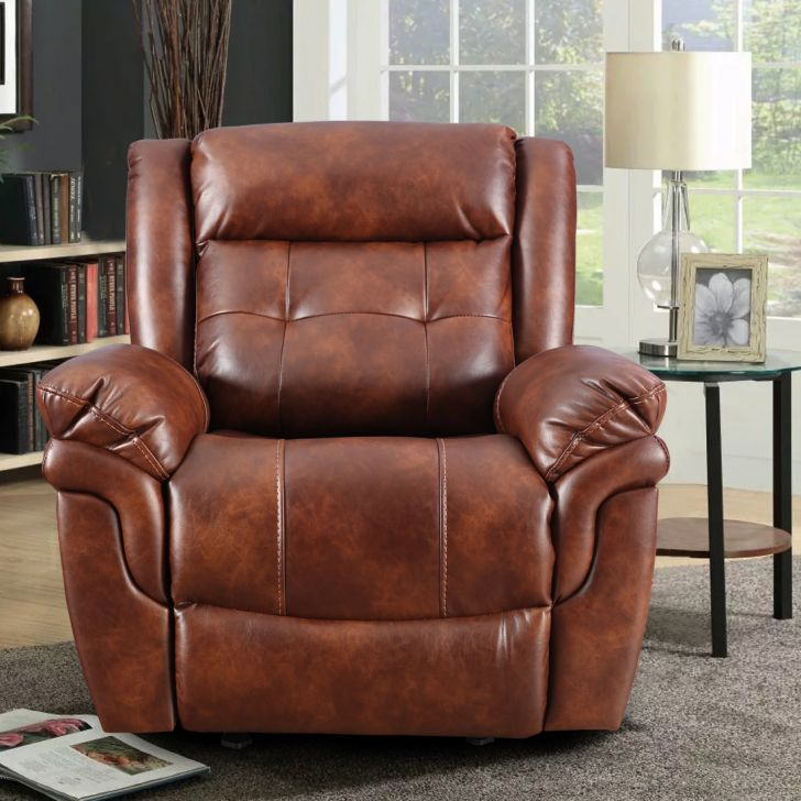 Eclairs Fabric Single Seater Recliner in Tan Color by HomeTown
