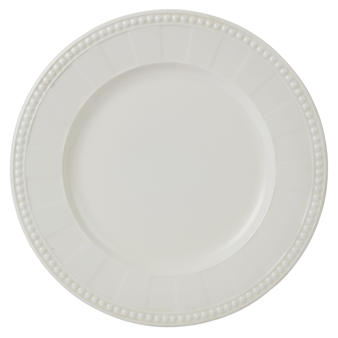 Florence Dinner Plate 27 Cm Ceramic Plates in White With Gold Line Colour by Living Essence