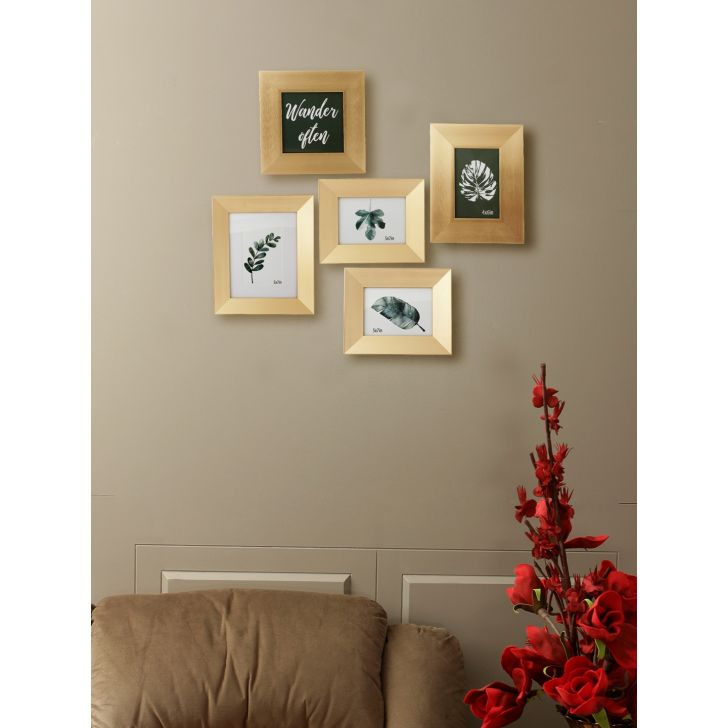 Vista Plastic Photo Frame in Gold Colour by HomeTown