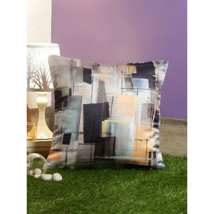 Digi Abstract Pvc Cushion Covers in Multi Colour by Living Essence