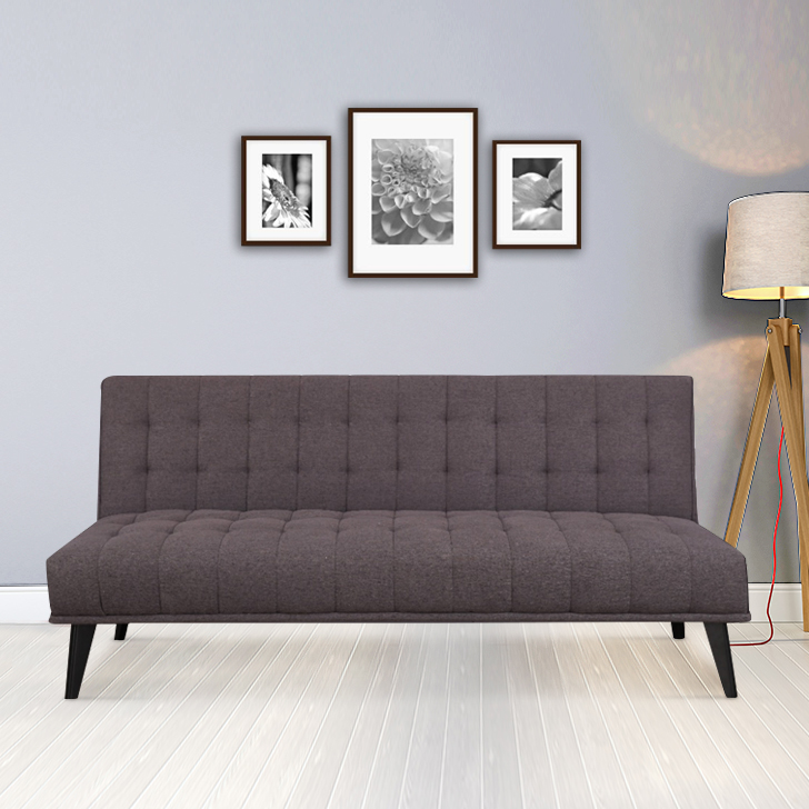 Willis Fabric Sofa Cum Bed in Grey Colour by HomeTown