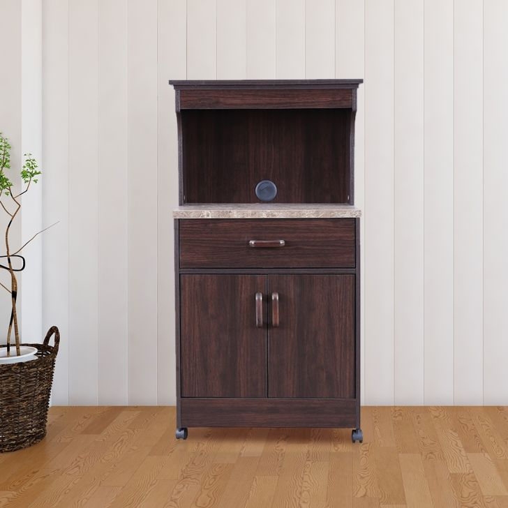 Murano Engineered Wood Microwave Unit in Wenge Color by HomeTown