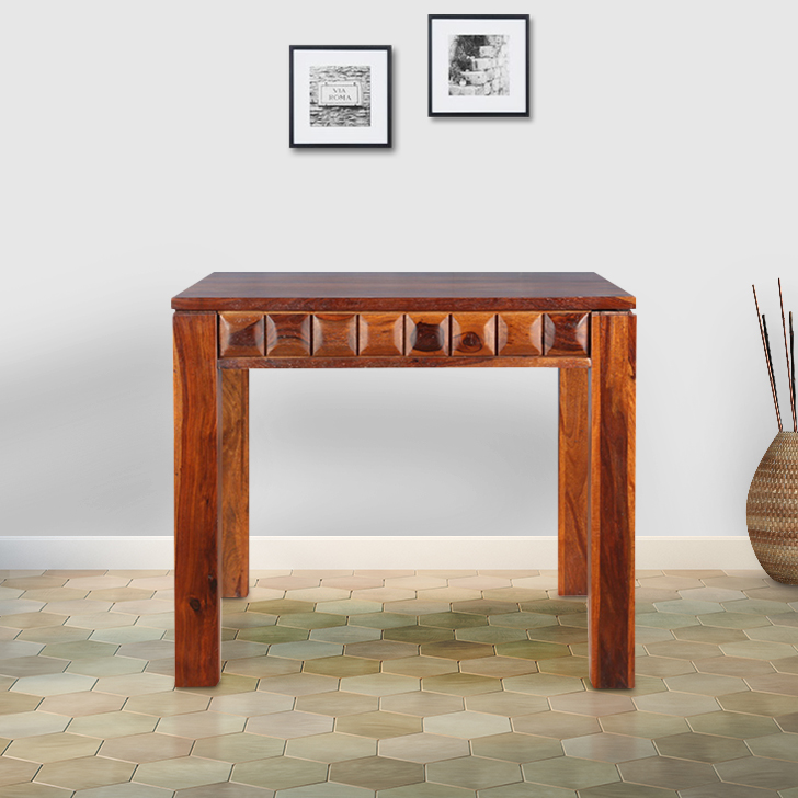 Woodrow Solid Wood Four Seater Dining Table in Honey Colour by HomeTown
