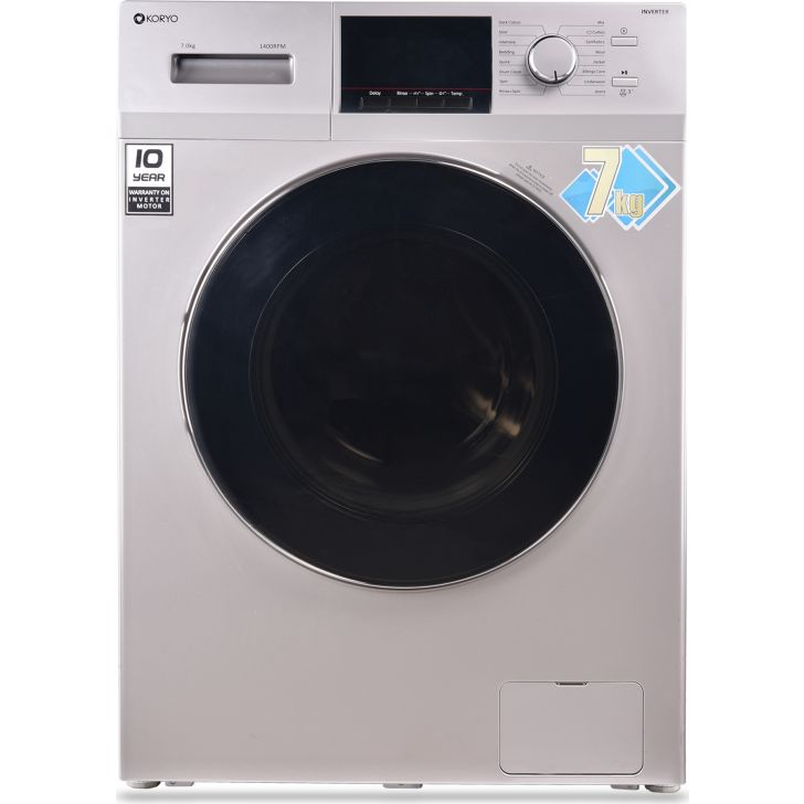 Koryo 7 Kg Fully-Automatic Front Loading Washing Machine (Kmw1470Invfl, White)