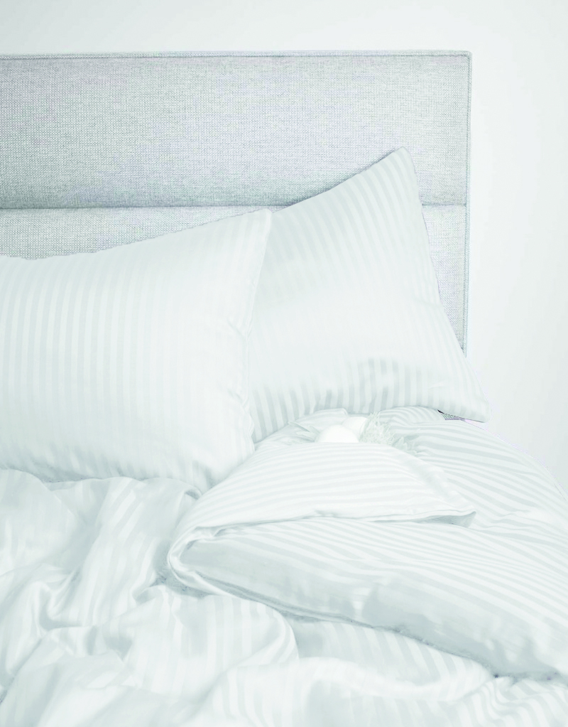 Amara Cotton Double Bed Sheets in White Colour by Living Essence
