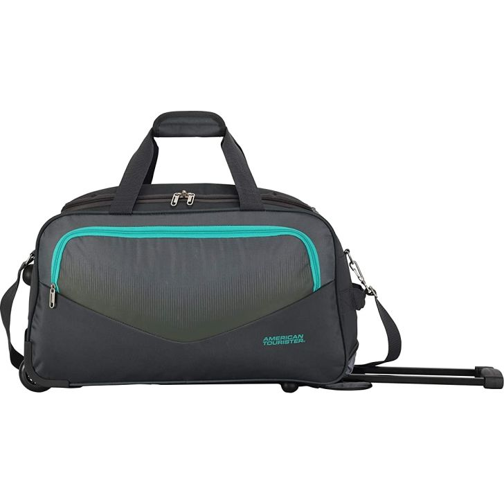 Ohio 55 cm Polyester Duffle on Wheel in Grey Colour by American Tourister