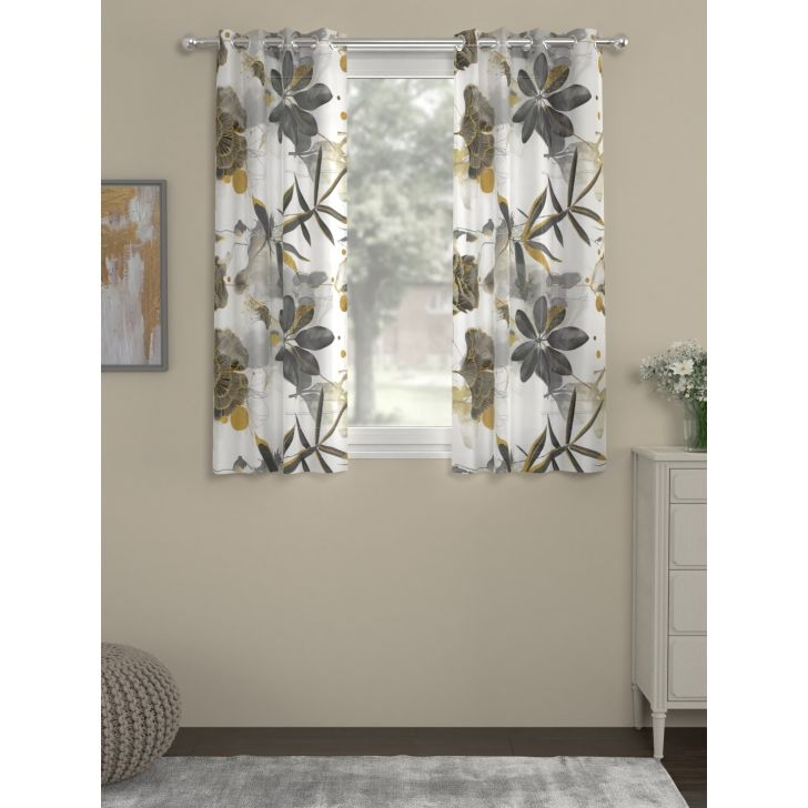Rosara Home Polyester Curtain in Black Colour