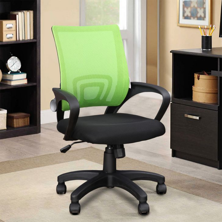 Regus Fabric Office Chair in Green Colour by HomeTown