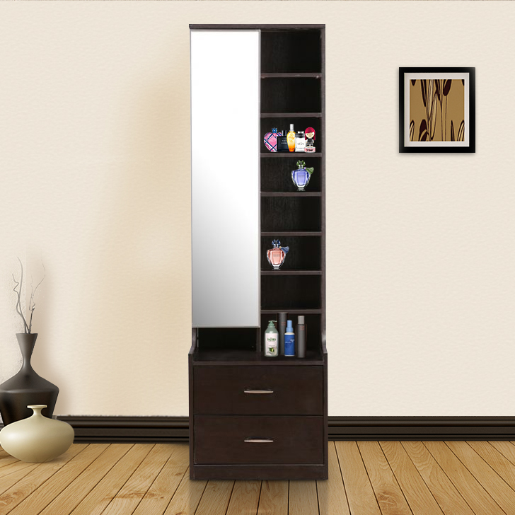 Mozart Engineered Wood Dressing Mirror in Wenge Colour by HomeTown
