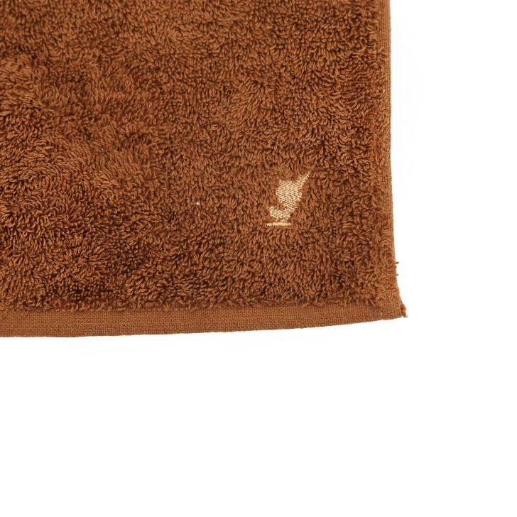 550 GSM Embedded Stripe Cotton Face Towel in Brown Colour by from Maspar at www.hometown.in