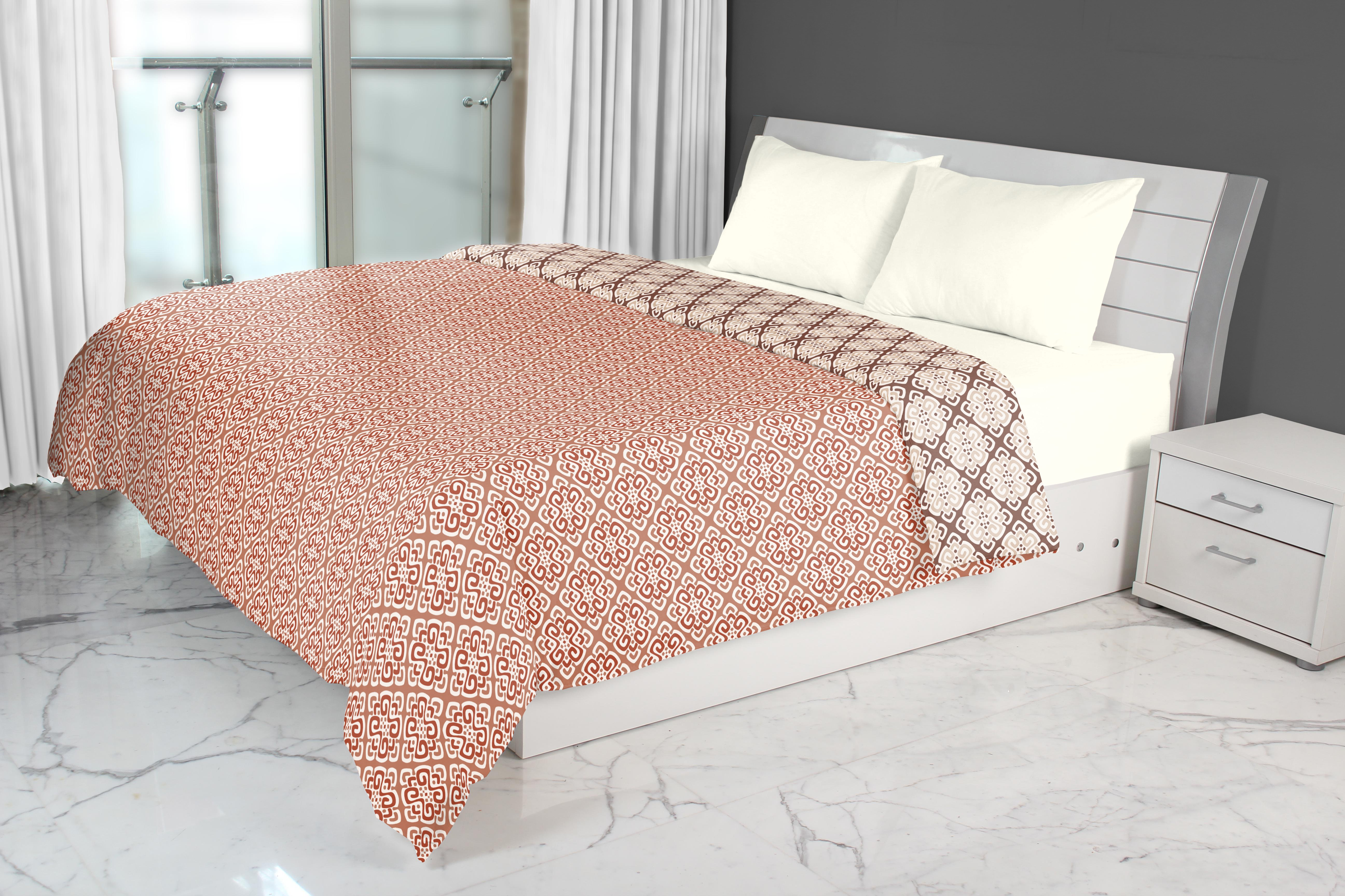 Emilia Cotton Dohars in Rust Brown Colour by Living Essence