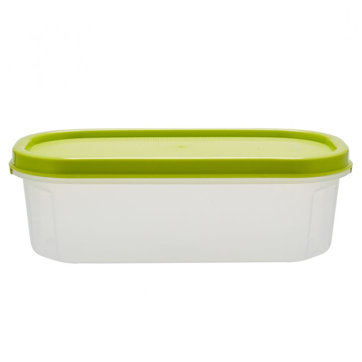 Kitchen Modular Oval 550 Ml Green Plastic Containers in Green Colour by Living Essence