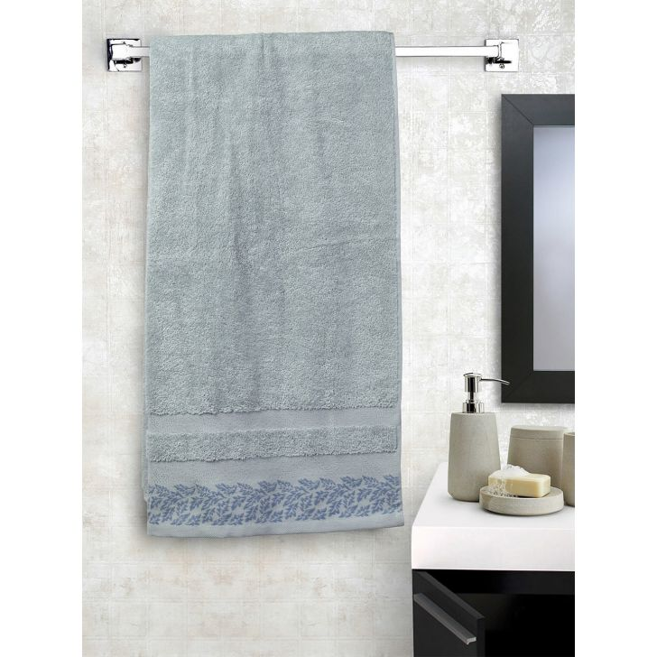 Portico New York Ariana Jacquard : B Bath Towel in Ivory Color by Portico