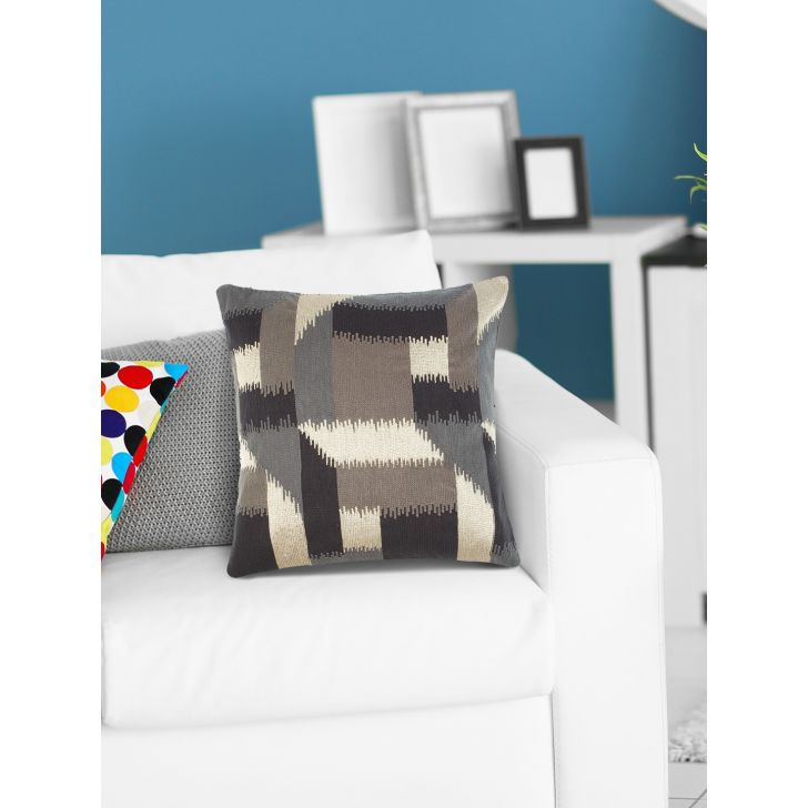 Modern  Cushion Cover 16X16 CM in Black Colour by Living Essence