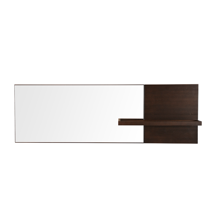 Prestige Engineered Wood Dressing Mirror in Dark Walnut Colour by HomeTown