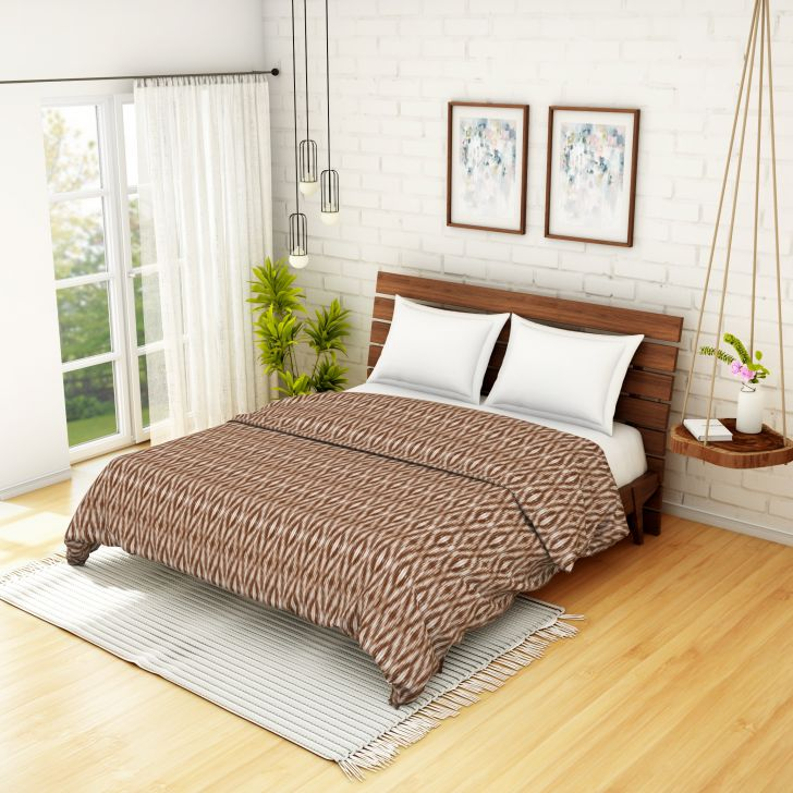 Spaces Essentials Cambric Chocolate Floral 1 Double Dohar