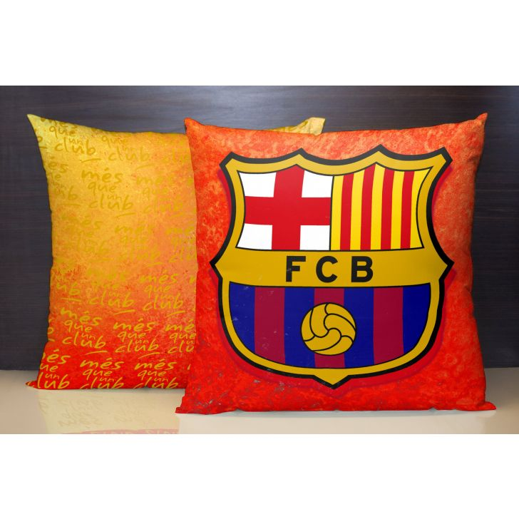 Fcb Cushion Cover 40x40 CM in Orange Colour by Spaces