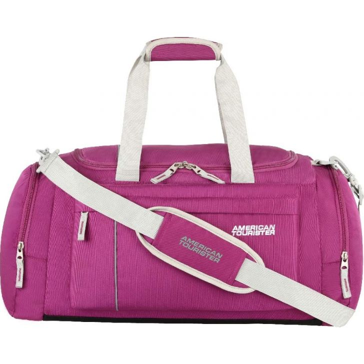 X Bags Casual 2 Polyester Duffle Airbag in Magenta Colour by American Tourister