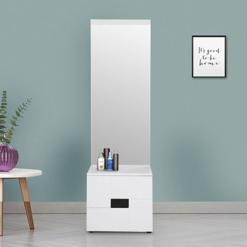 Buy Edwina Engineered Wood Dressing Table In White Colour By