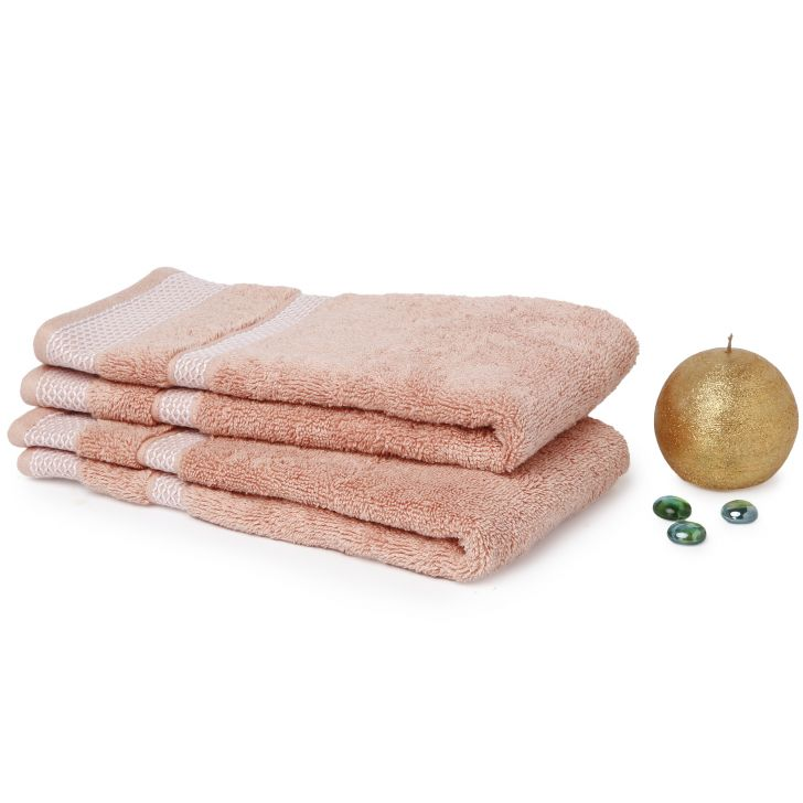Spaces Hygro Coral Cotton Hand Towel Set Of 2