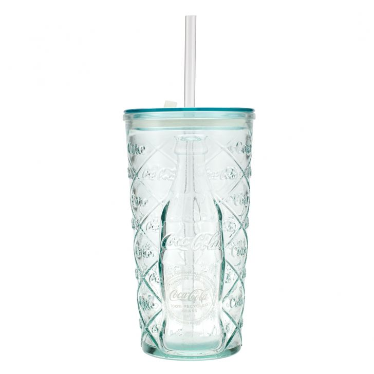 Sm Glass Coca-Cola 500 Cc W Lid Glass Mason Jars in Transparent Colour by Living Essence